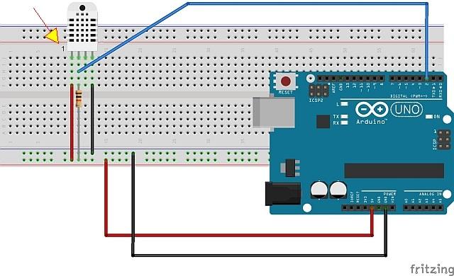 montagem na protoboard